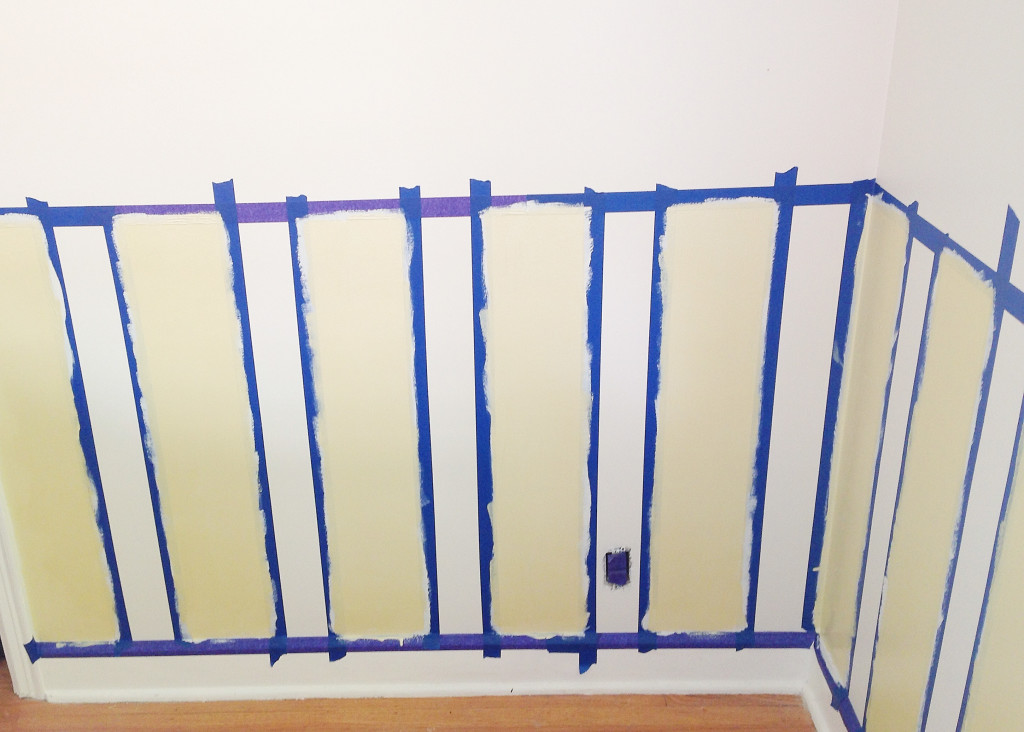 Painting Stripes, Accent Color, The Busy Girl Blog