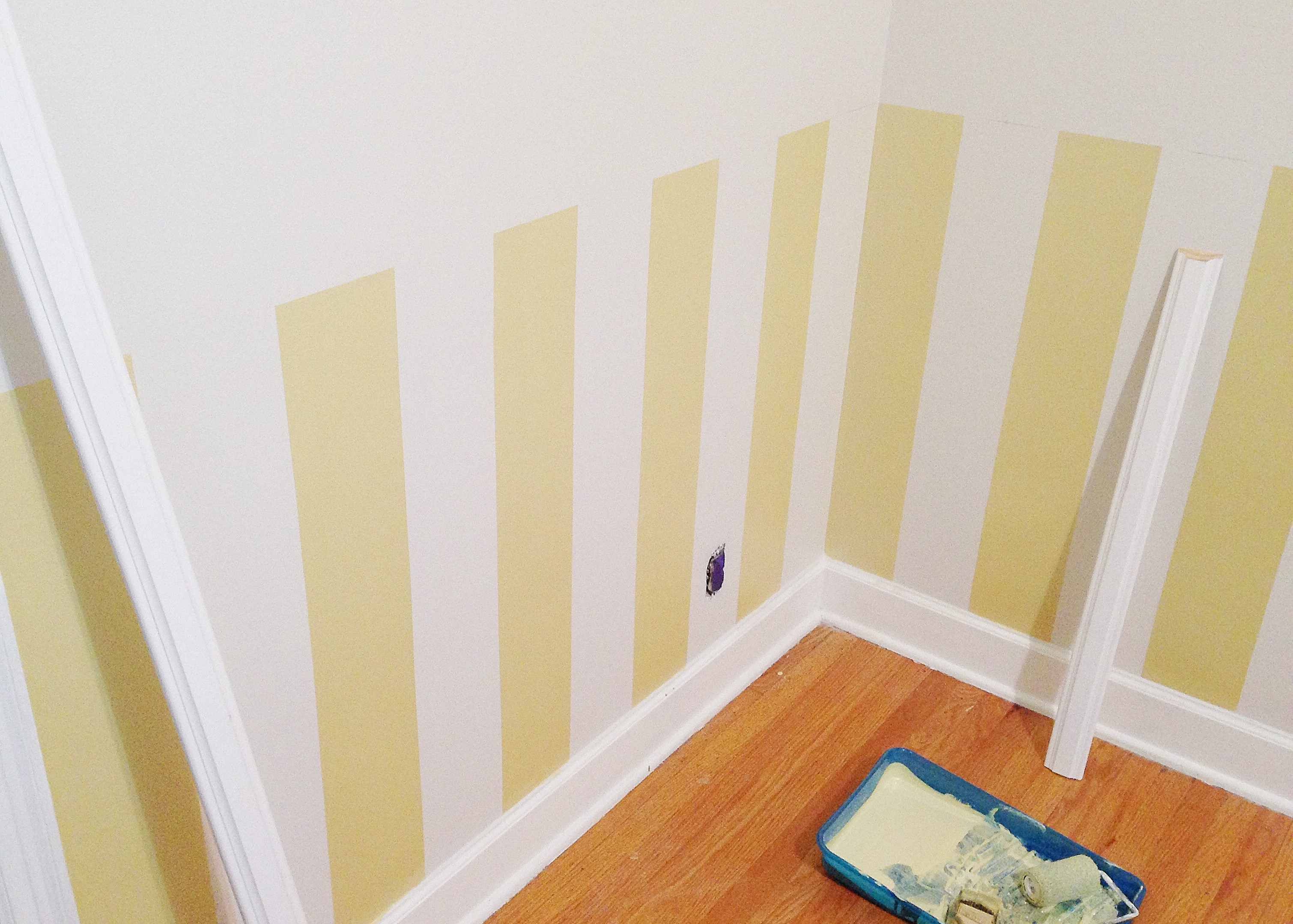 Painting Stripes - The Busy Girl Blog