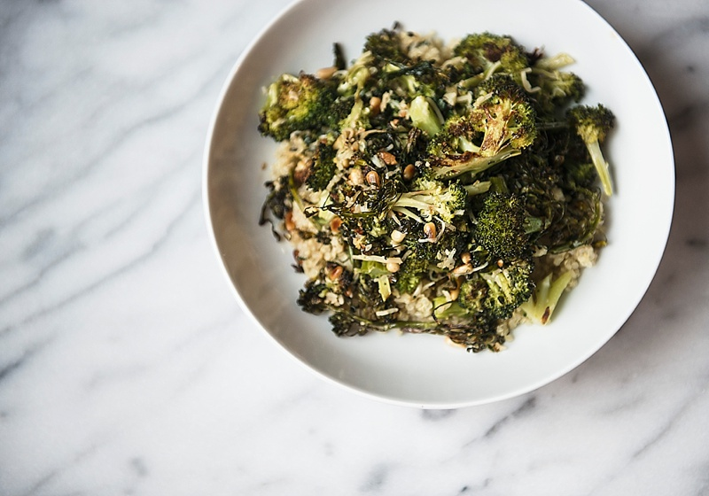 Parmesan Roasted Broccoli, The Busy Girl Blog
