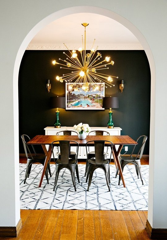 Black Dining Room, The Busy Girl Blog