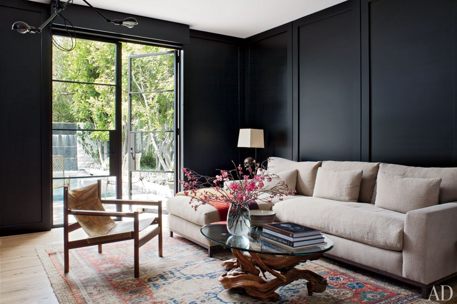 Black Living Room, The Busy Girl Blog