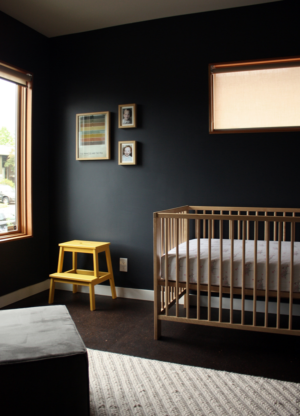black nursery, The Busy Girl Blog