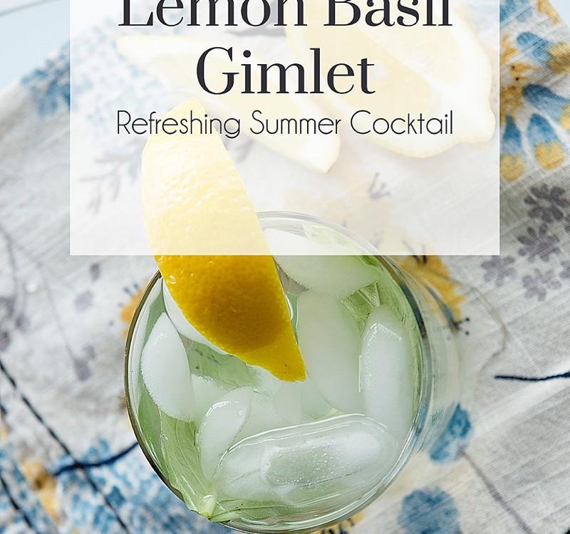 Lemon Basil Gimlet