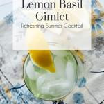 Lemon Basil Gimlet, The Busy Girl Blog