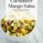 Cucumber Mango Salsa, The Busy Girl Blog